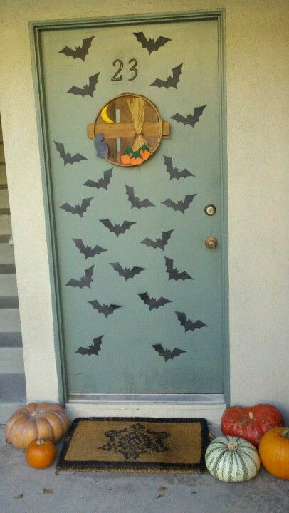 Easy cut out bats with black paper for Halloween decorations Just