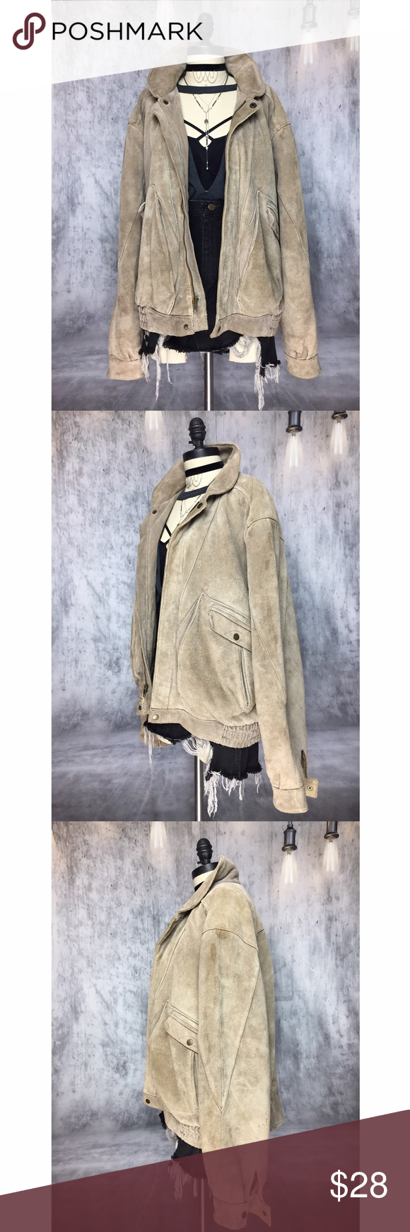 true vintage wilsons leather and suede jacket Suede