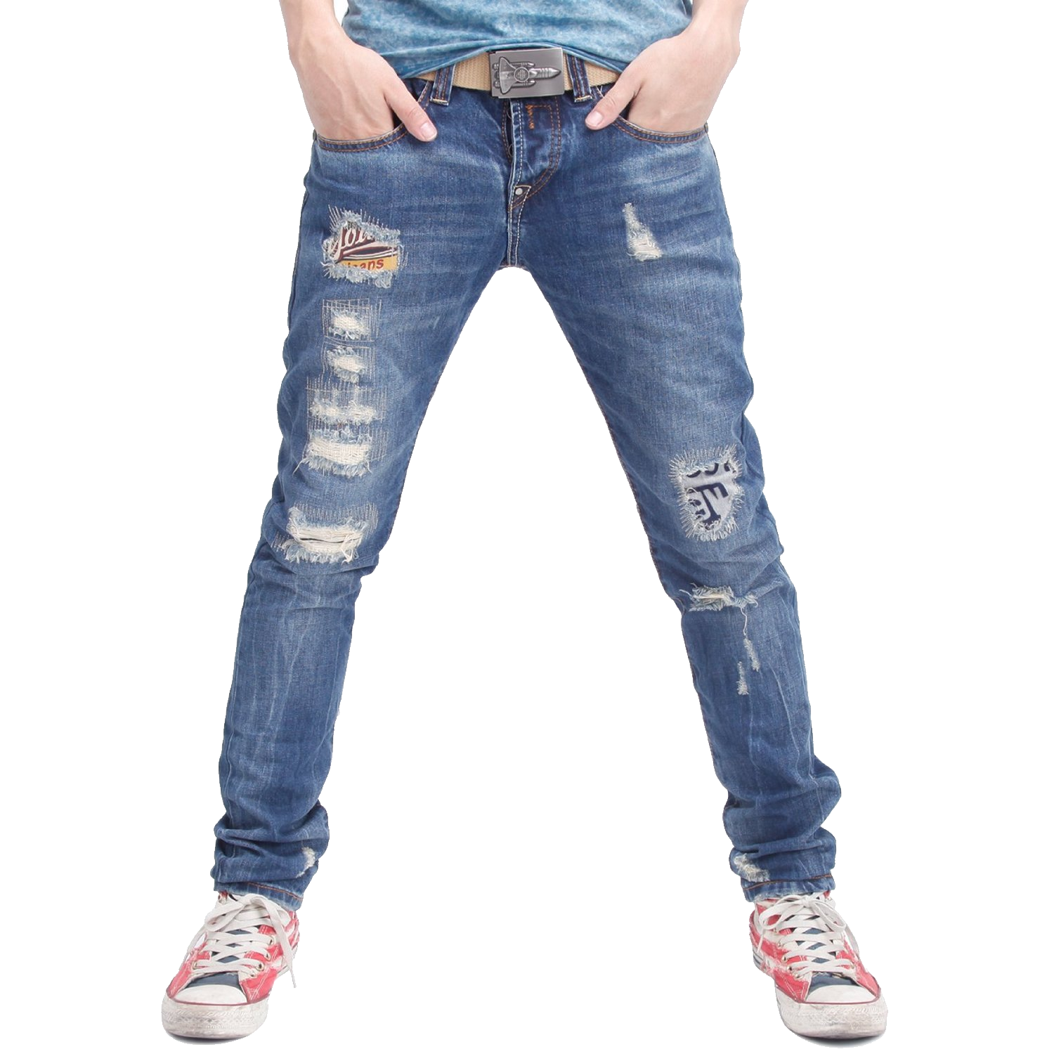 Blue Jeans Png Image Ripped Jeans Men White Jeans Men 80s Fashion Trends