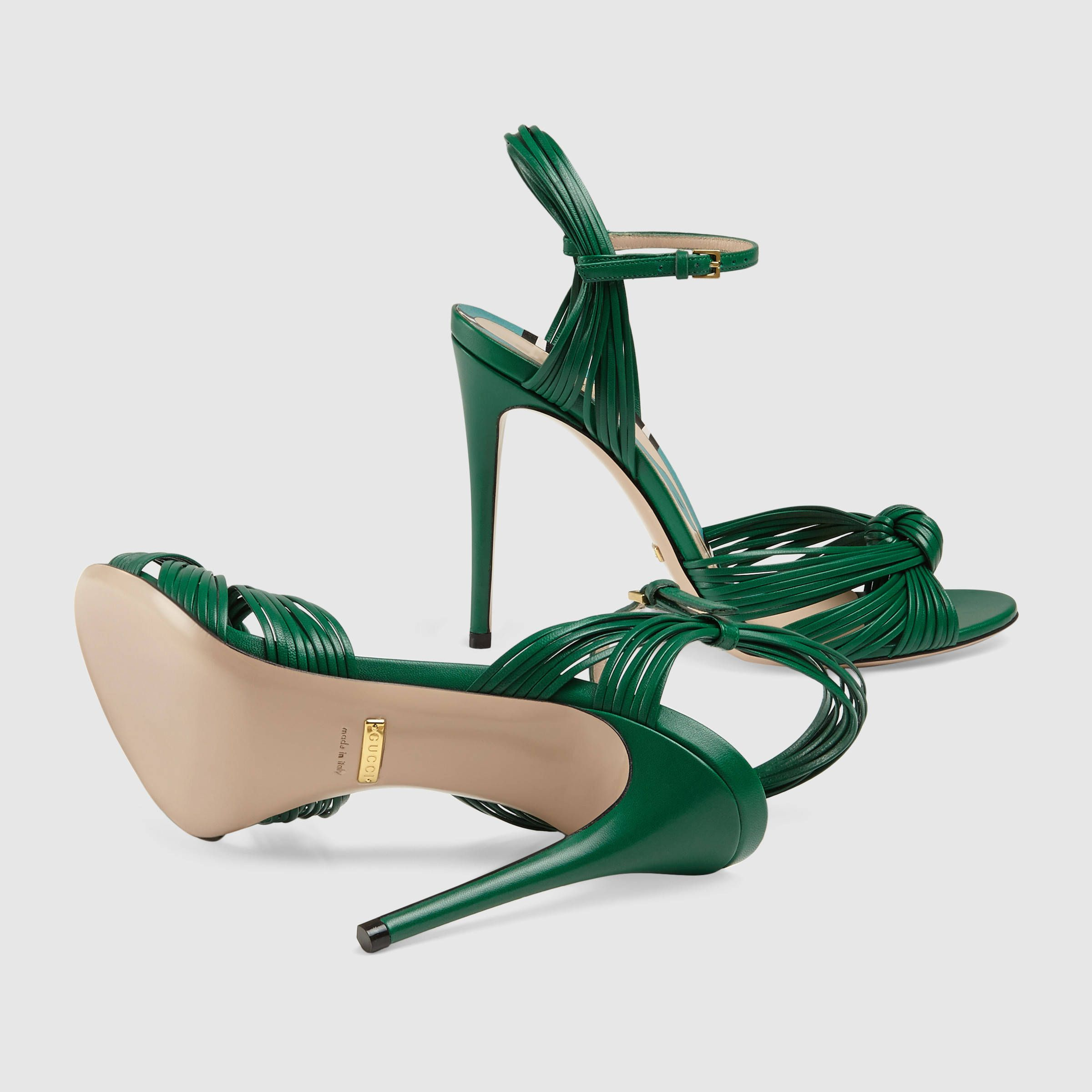 Ankle strap sandals, Gucci leather