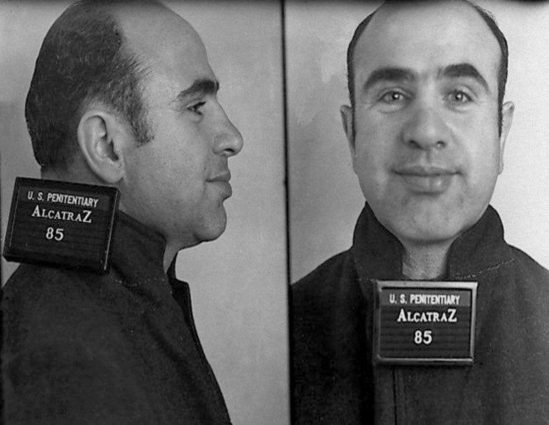Al capone mugshot rare photo alcatraz prison etsy in