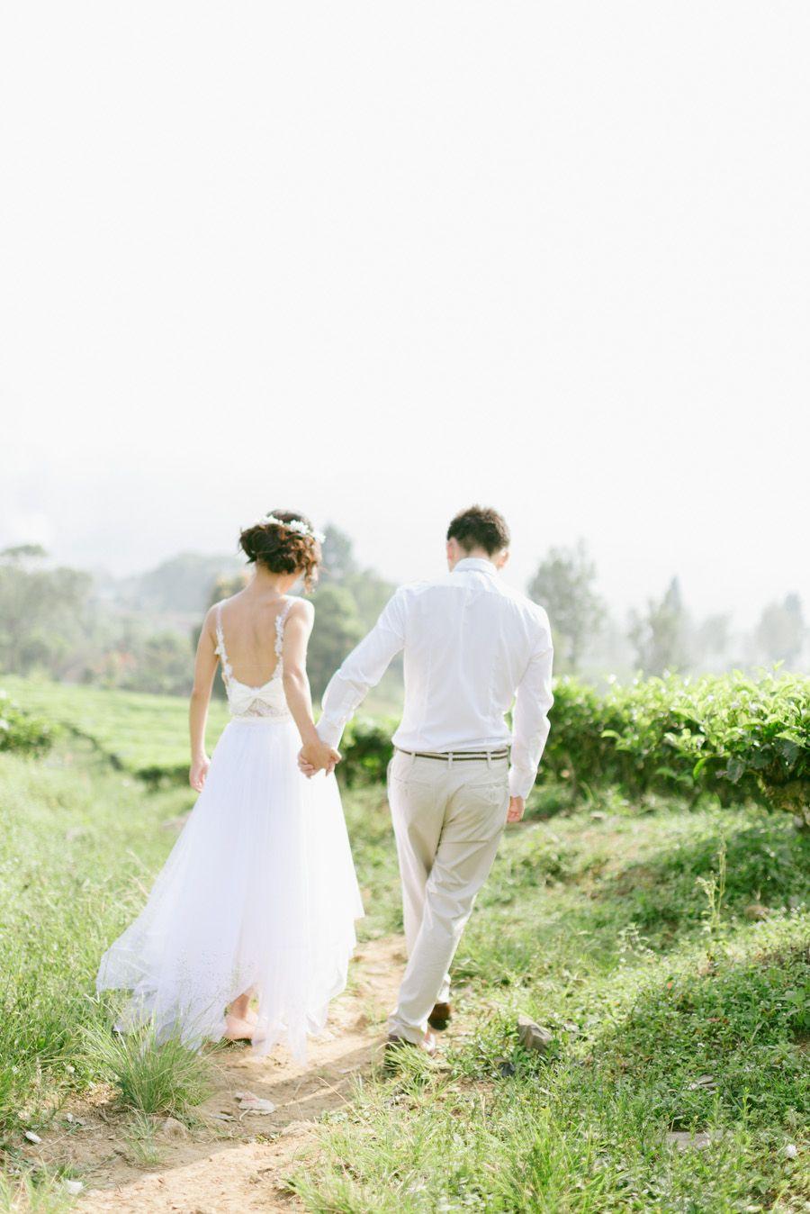 A tea plantation engagement session mingy and julia wedding
