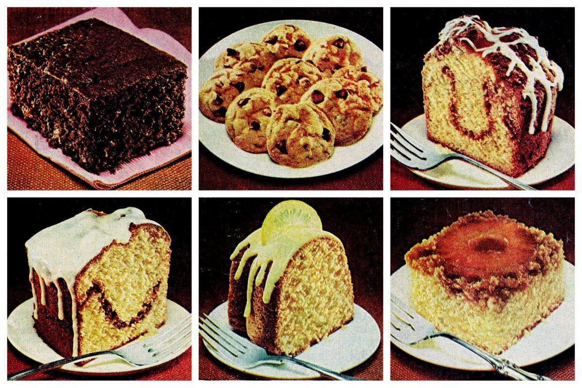 6 Dessert Recipes Made With Duncan Hines Cake Mix 1978 Recipe Dessert Recipes Cake Mix Chocolate Chip Cookies Cake Mix