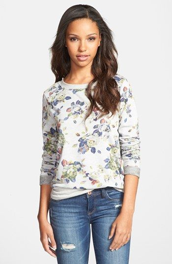 Olivia Moon Print Back Tie Sweatshirt available at #Nordstrom