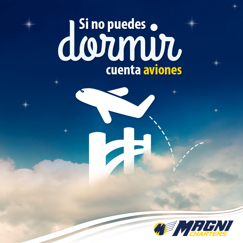 Si no puedes dormir... ¡Cuenta aviones!  #Aviación #Aviation