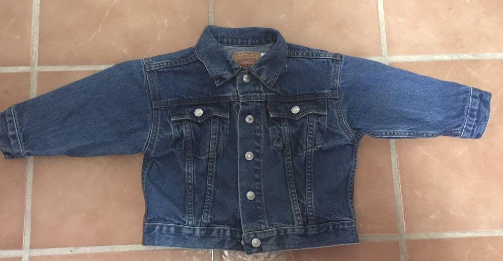 Levi S Blue Denim Jean Jacket Red Tab Size 2t Boys Girls Unisex Euc