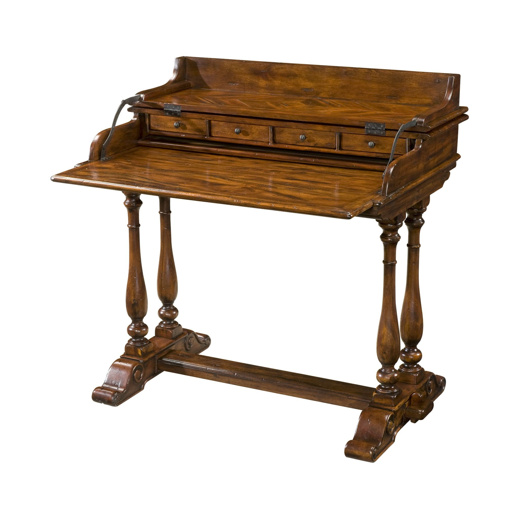antiqued wood fold over campaign desk campaign desk antique wood