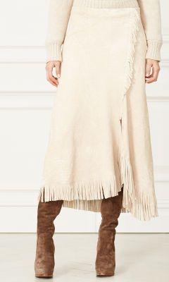 McKayla Suede Skirt - Collection Apparel Maxi Skirts - RalphLauren.com