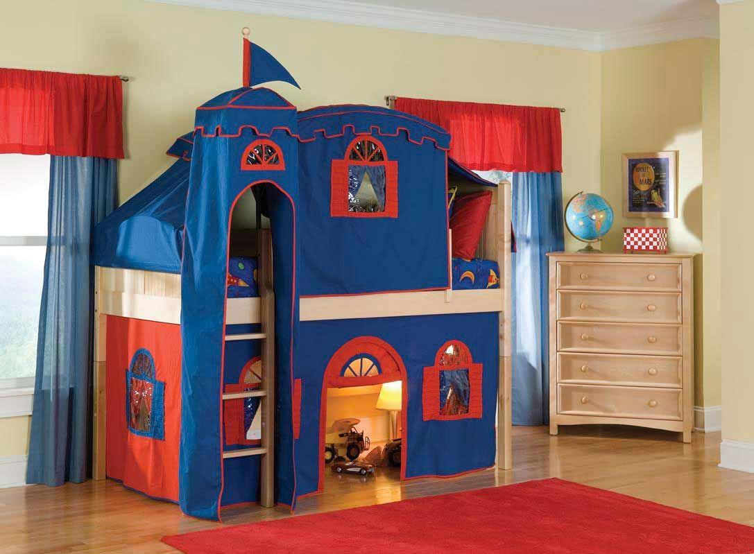 Toy Castles For Toddler Boys : Bunk beds for toddler boys bed tents