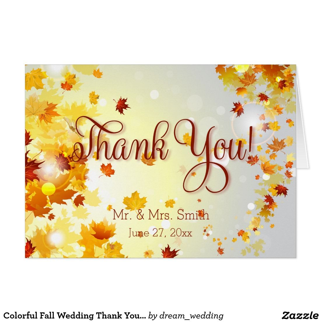 create your own card  zazzle  wedding thank you