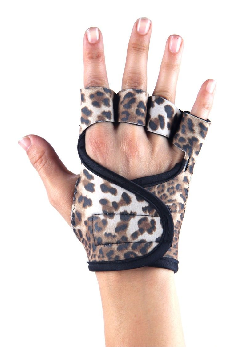 Baby Leopard workout gloves