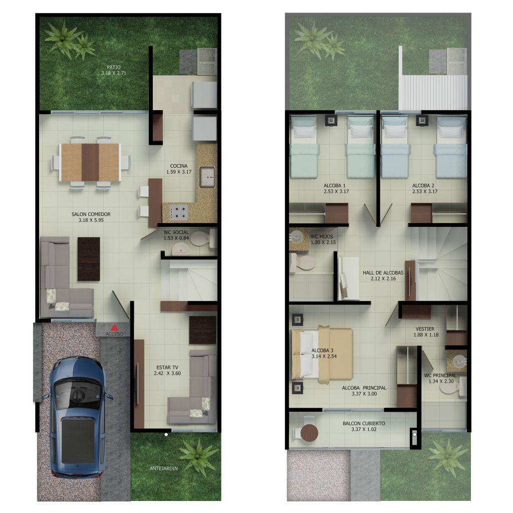 Malib casas independientes en palmira casa for Malibu house plans