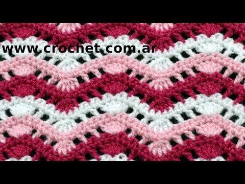 Punto Fantasía N° 38 en tejido crochet tutorial paso a paso ...
