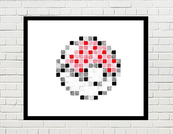 Pokemon Pokeball Pokeball Art Pokeball Poster Pokeball Print