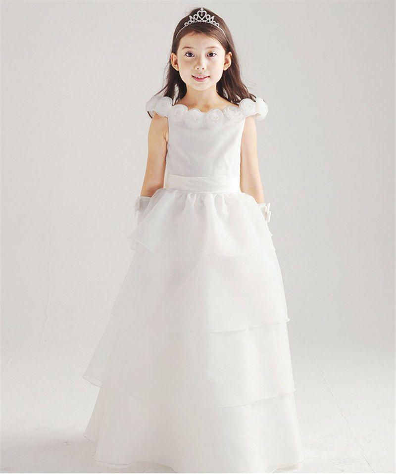 Kind Mädchen Hochzeitskleid Bridesmaid Bogen Ballkleid Formal ...