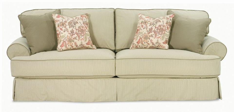Addison T Cushion Sofa Slip Cover Slipcovered Sofa Cushions On