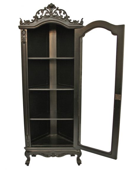 Attirant Small Black Display Cabinet | ... Furniture U0027Helenau0027 Glass Display Corner  Cabinet