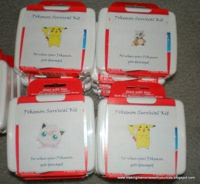 Pokemon Survival kit for a Pokemon bday party Kids Party Ideas
