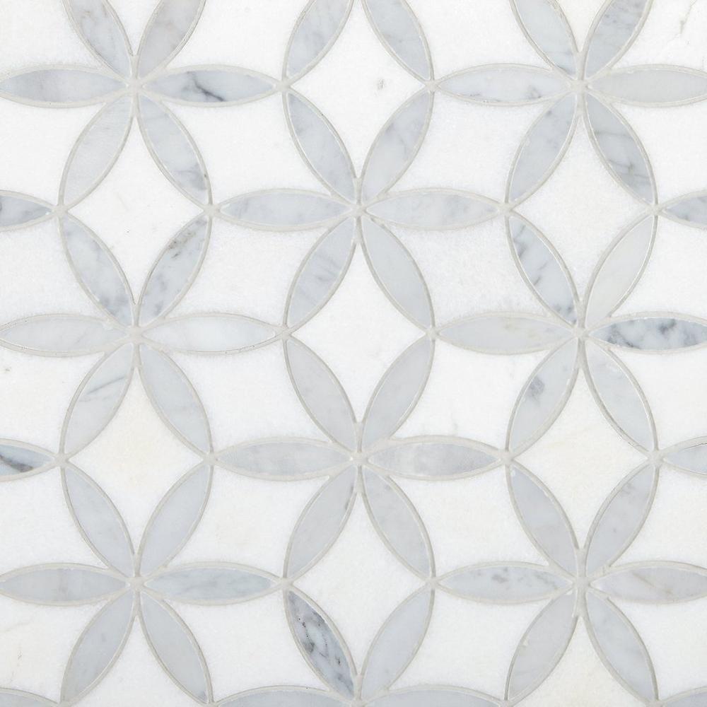Viviano Marmo Millefort Thassos Bianco Polished Ma