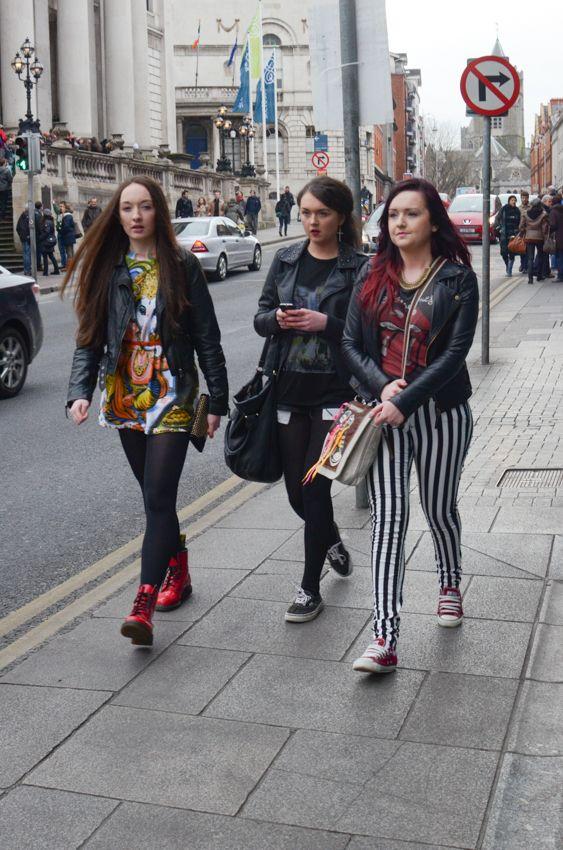 Street style in Dublin, Ireland