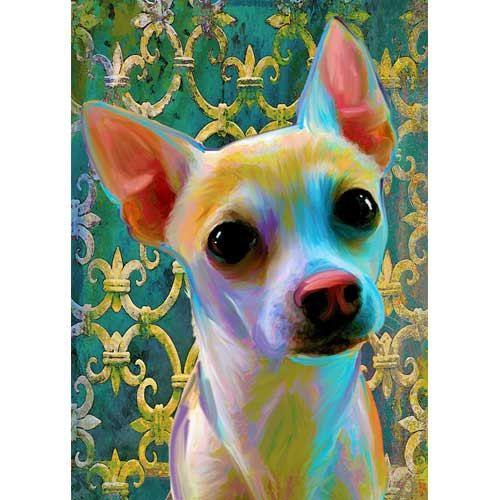 Chihuahua canvas print by artpaw on Etsy, $9.99