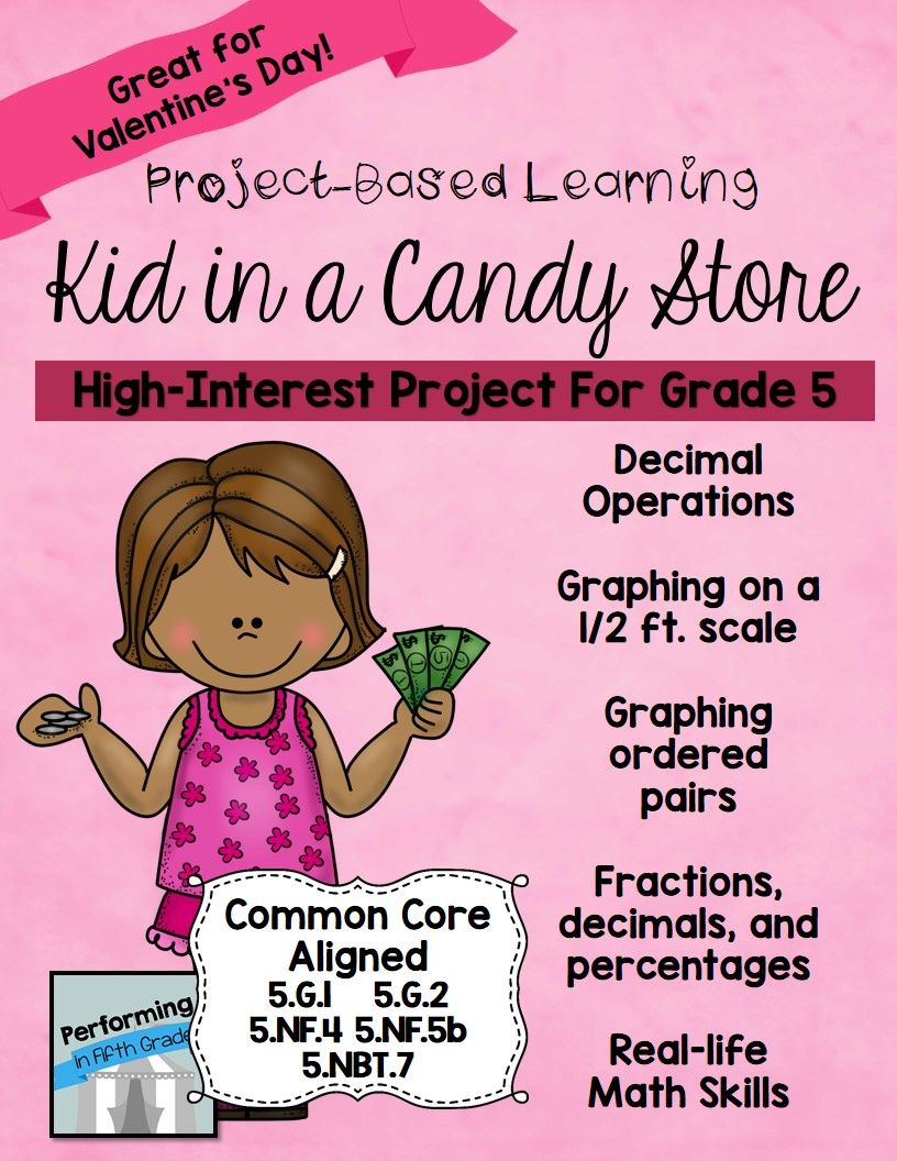 Project Based Learning: Kid in a Candy Store | Math projects ...