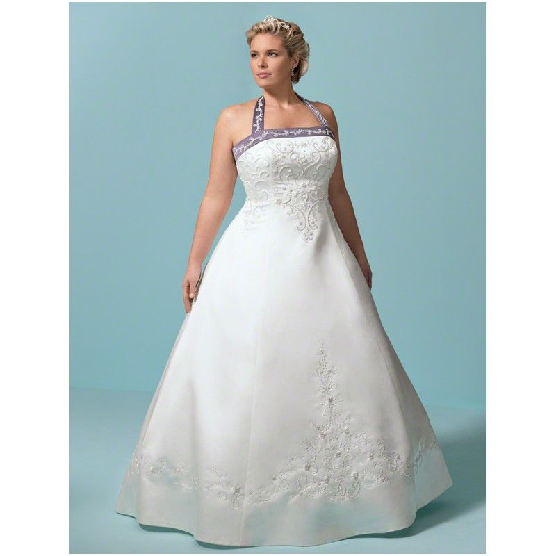http://dyal.net/plus-size-wedding-dresses Pink Halter Plus Size ...