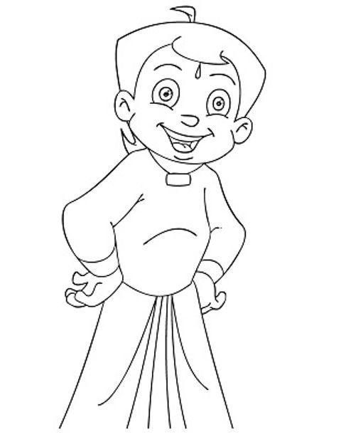 Chota Bheem Coloring Pages | da | Pinterest | Color pictures ...