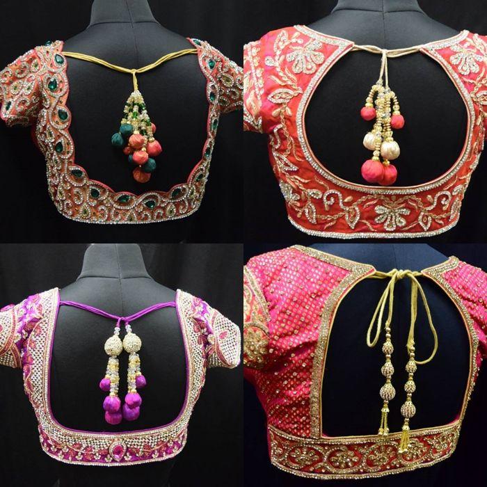 285a2755e27dc Heavy work Blouse Designs for Silk Sares
