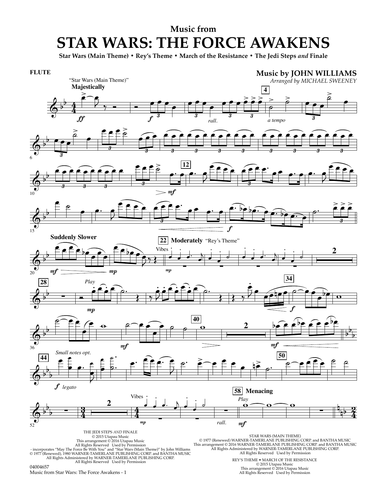 How To Play The Flute Flute Music Notes Sheet Chords - Music from star wars the force awakens flute sheet music at