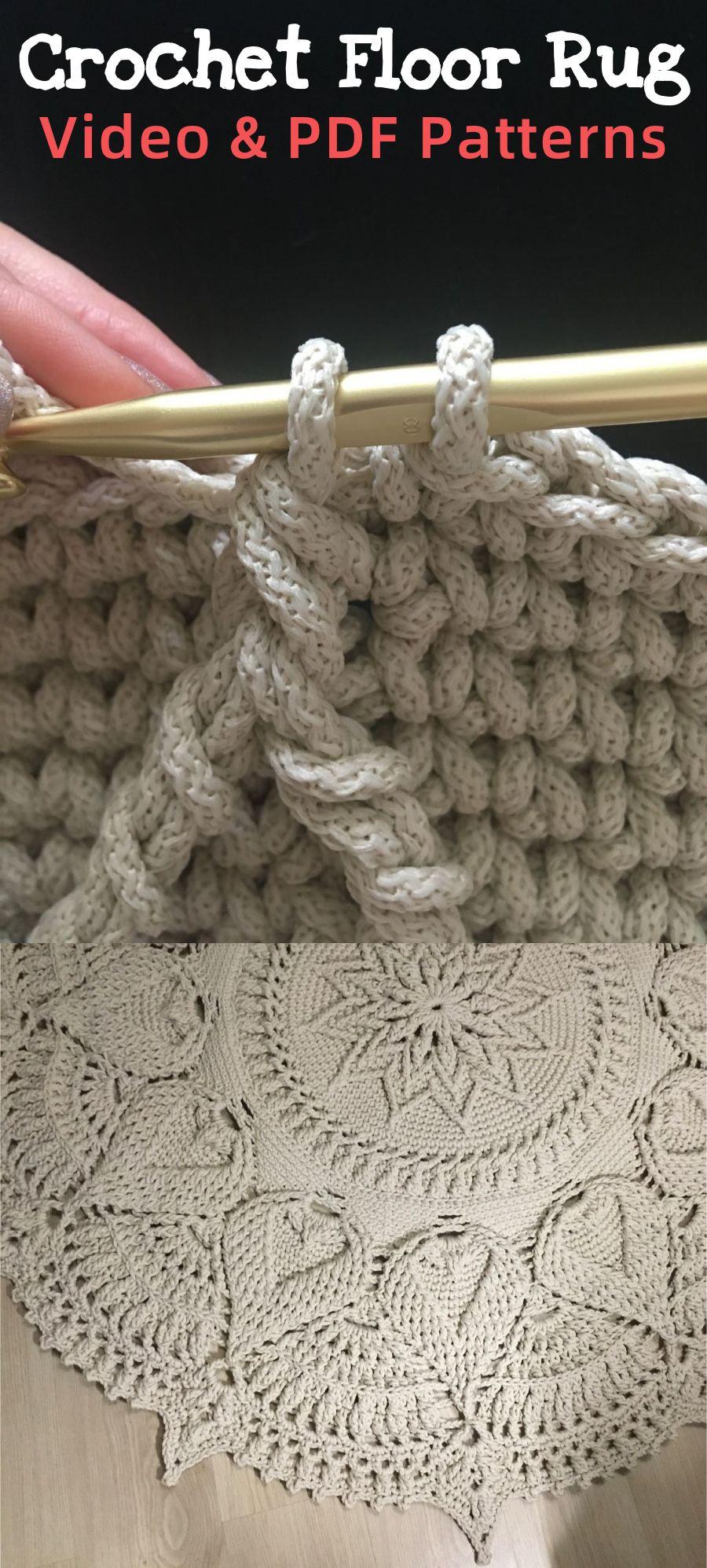 Video Tutorial Crocheting Rug Fox Text Description In Etsy In 2020 Crochet Rug Crochet Mat Crochet