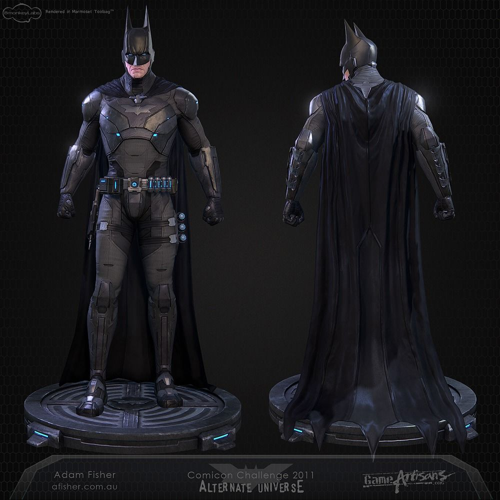 Batman Arkham Knight Batcave: Incredible High Tech Batman Costume Design