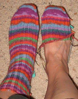 """Winner"" Sock Pattern Toe up basic sock pattern | Knitting ..."