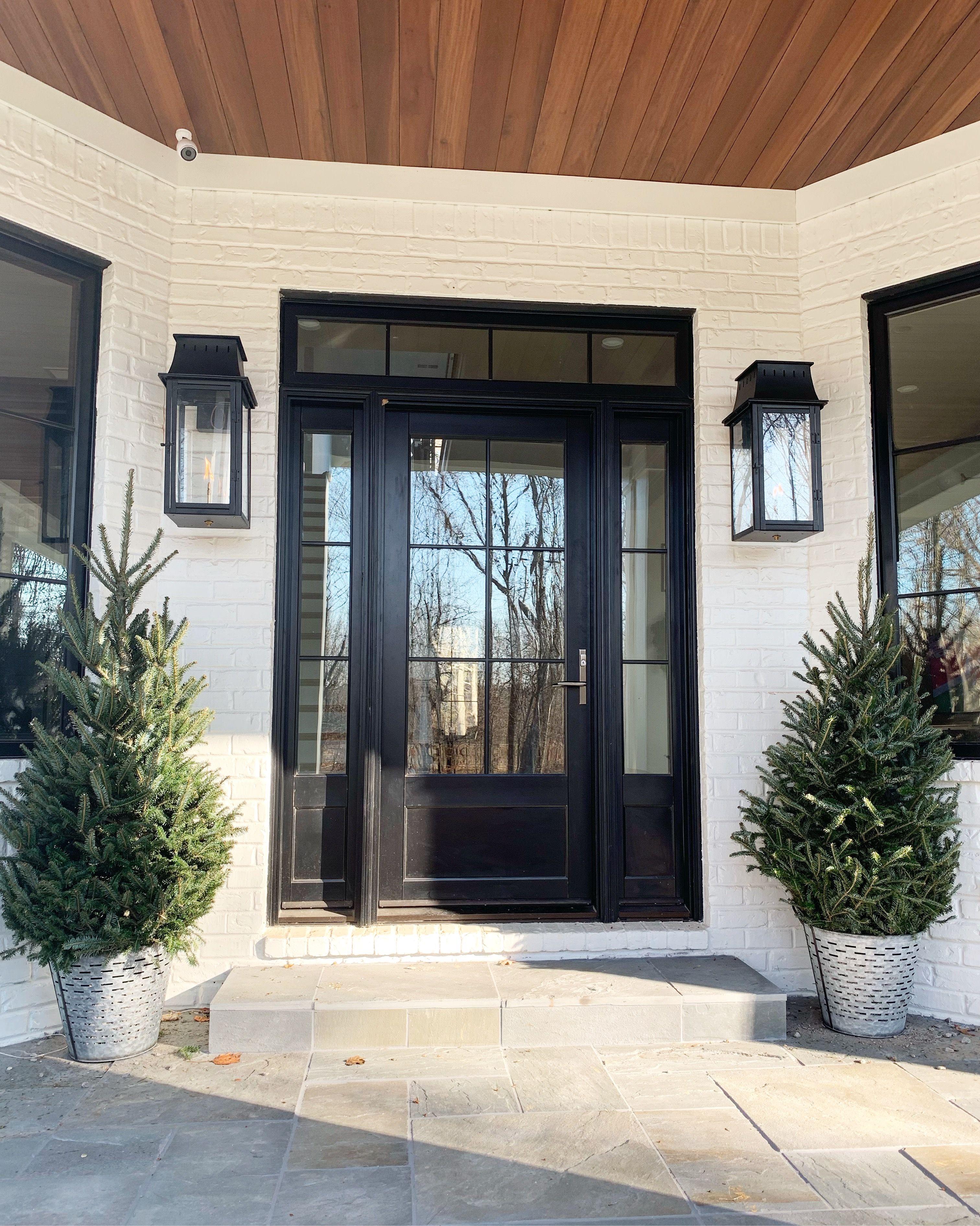 Blackard modern farmhouse house front door white