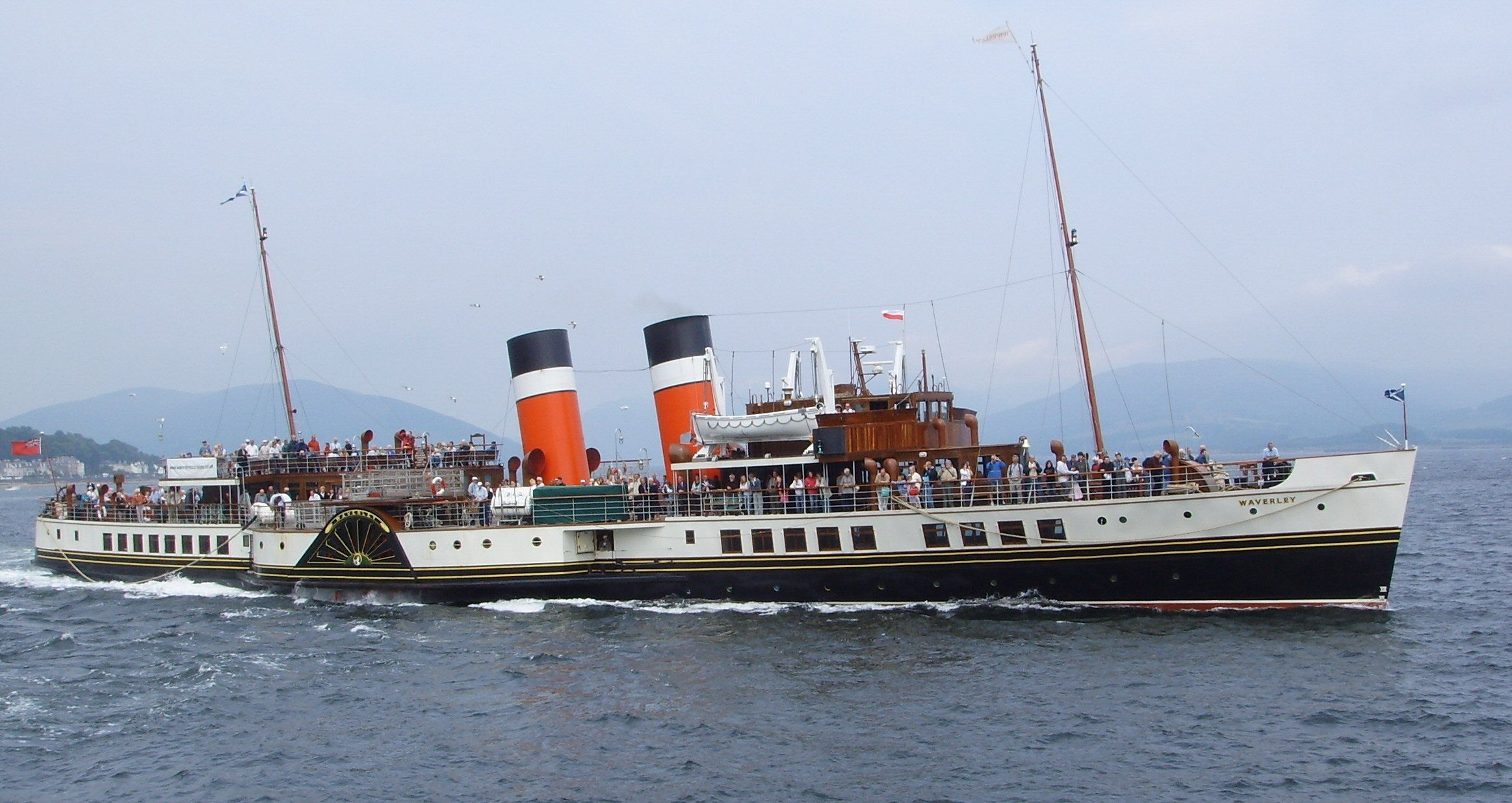 Paddle Steamer The Waverley On The River Clyde Glasgow Scenic 2nd City