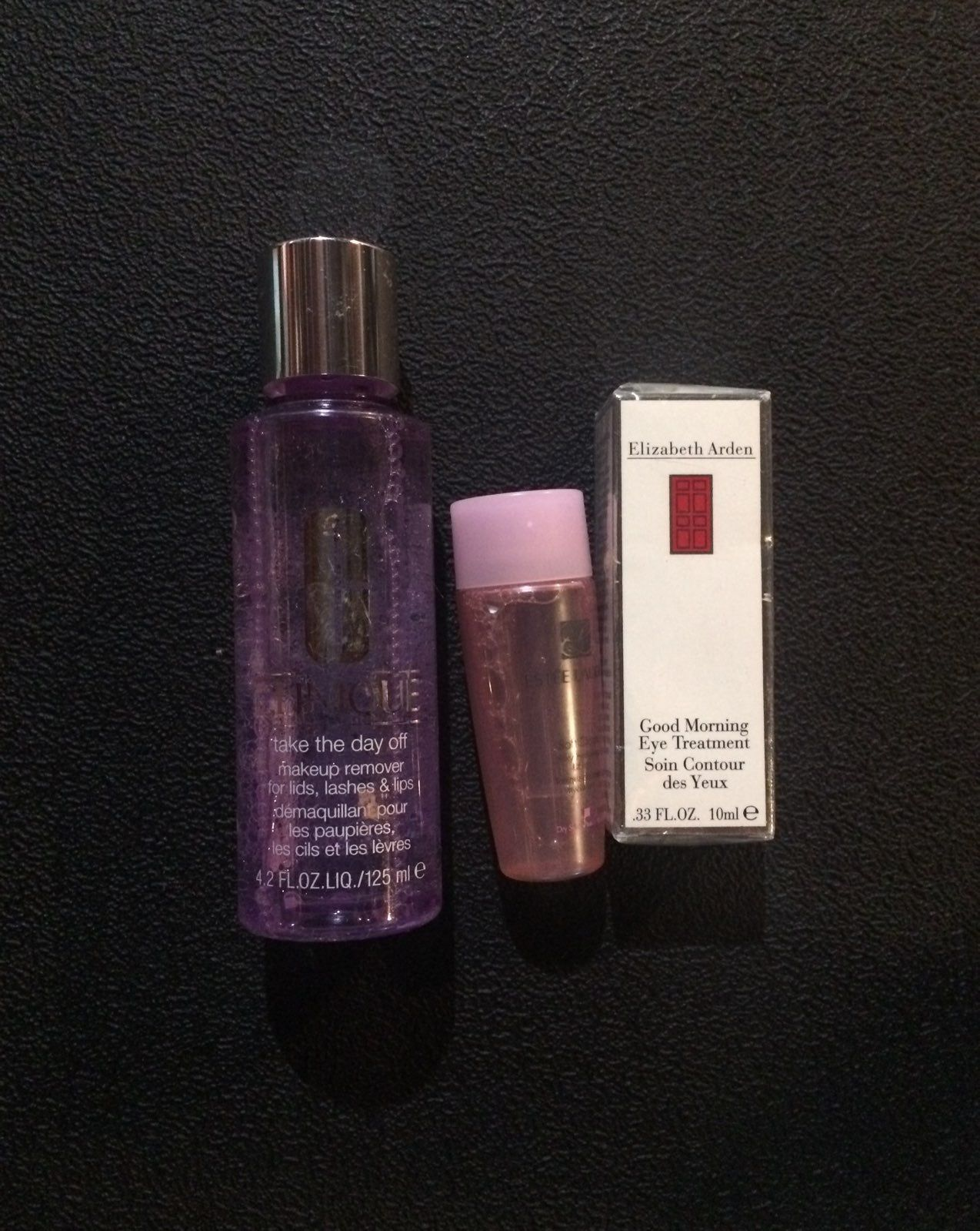 Clinique makeup remover Estée Lauder Toner and Elizabeth