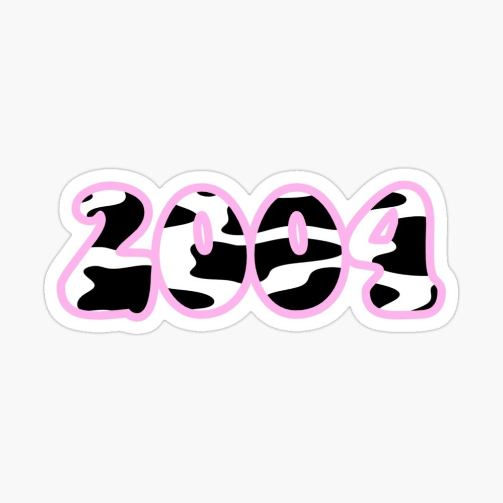 '2004' Glossy Sticker by Liiiiiiiiv