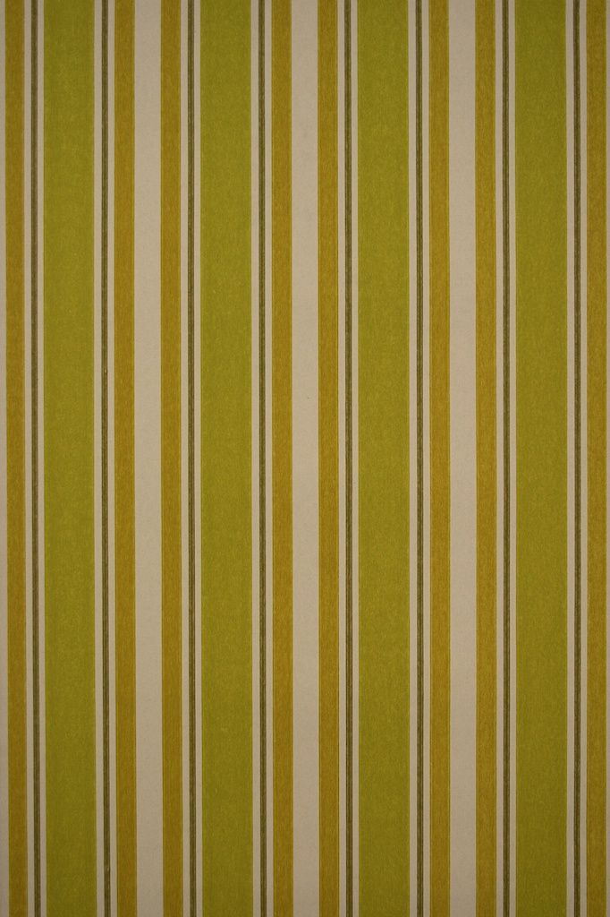 Original Seventies Retro Striped Wallpaper