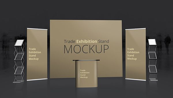 Free Psd Trade Exhibition Stand Mockups Freecreatives Exhibition Stand Trade Exhibition Free Mockup