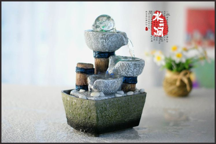 Beautiful Tabletop Water Fountains Indoor Free Shipping To