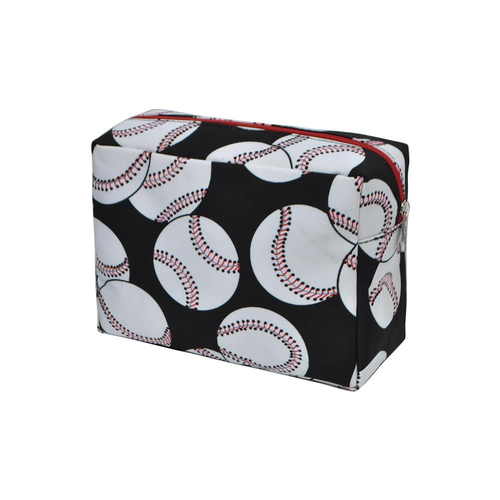 f3e673391169 Baseball Print Large Cosmetic Bag-Red | Pharmacy Pouches / Carrying ...