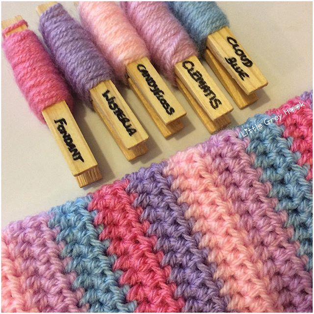 How Cute And Girly Is This Beautiful Pastels To Make Some More Pretty Wrist Warmers I Think This C Yarn Color Combinations Yarn Colors Crochet Blanket Colors