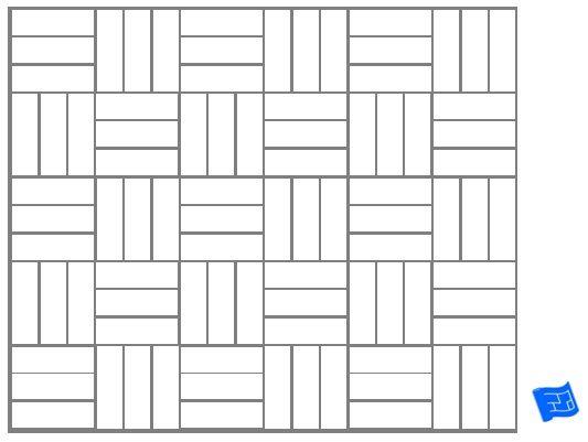 triple block tile pattern plain for