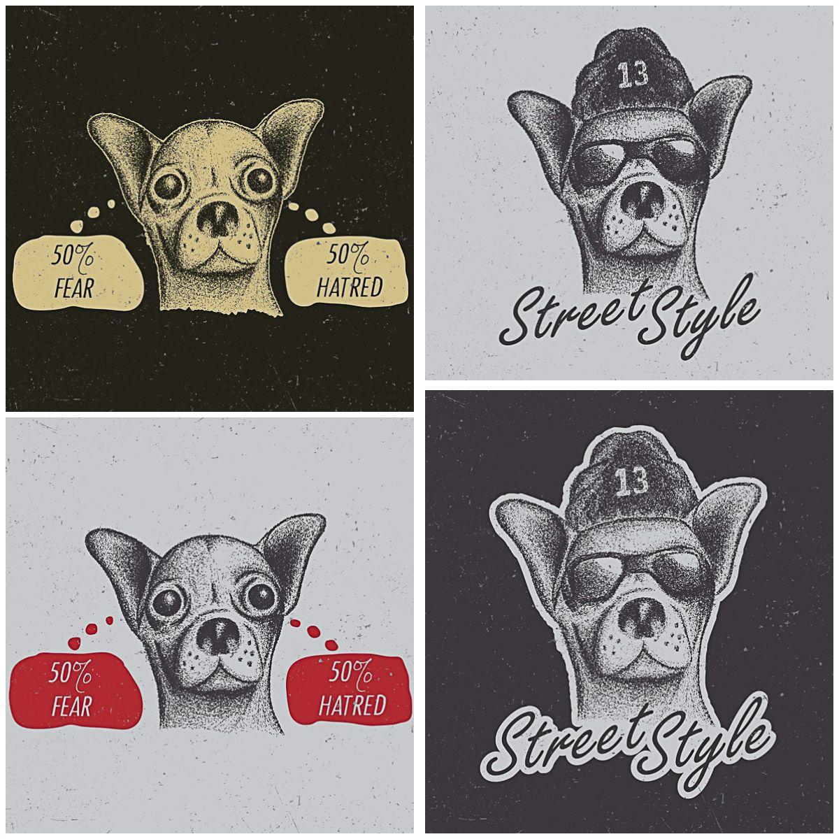 Free t-shirt design - T Shirt Design Dog Chihuahua Dotwork Free Print
