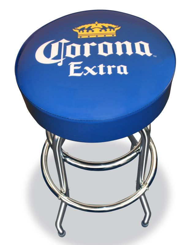 Corona Extra Cerveza Beer Bottle Crown Logo Bar Stool Pub House Chair