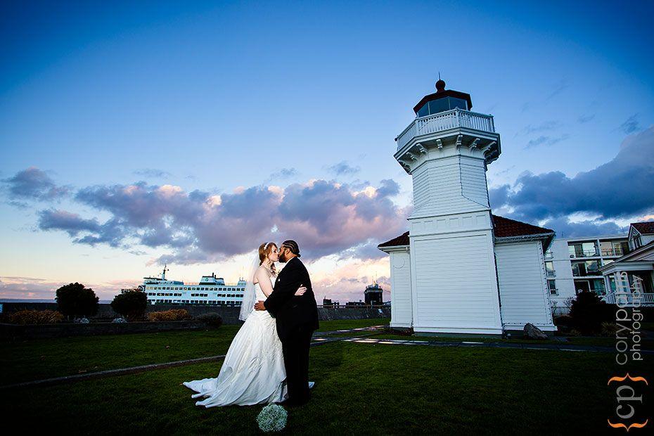 Wedding Photograph At Mukilteo Lighthouse Before A Rosehill Community Center