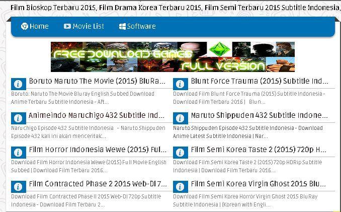Situs Download Film Terbaru 2015 Gratis Nonton Film Baru Gratis 2015 Download Film Ganool Terbaru 2015 Film Naruto The Movie Drama Korea Terbaru Movie List