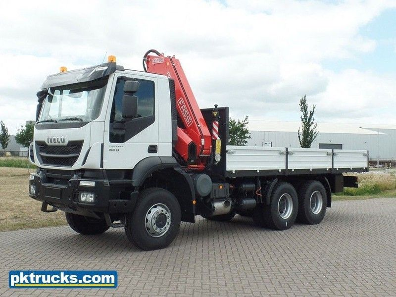 New Iveco Trakker Ad380t38wh 6x6 Fassi Crane Cw Flatbed Flatbed Truck For Sale From Netherlands At Truck1 I Trucks Flatbed Trucks For Sale Truck Mounted Crane
