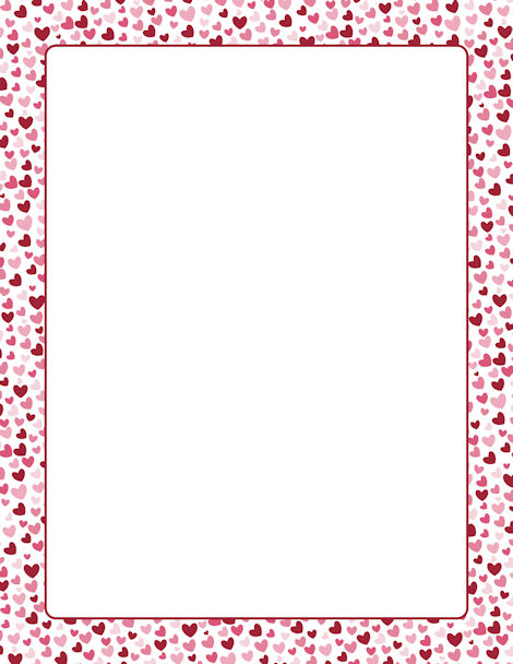 A Red And Pink Heart Border Free S At Http Pageborders