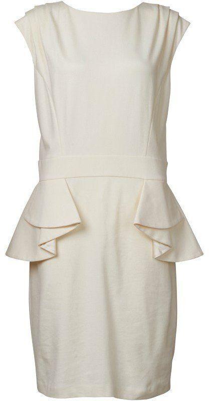 a1cd81931351 Ted Baker Womens Peplum Detail Dress Cream £39.99 66% OFF ...